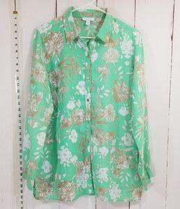 Charter Club 100% linen blouse. Size L